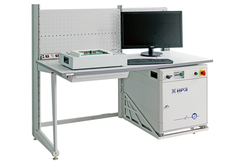 Input control bench for radioelements
