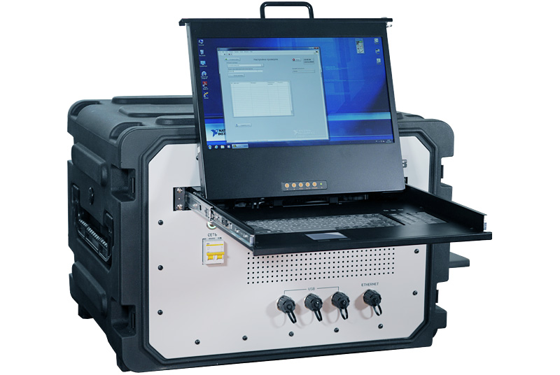 Multifunctional mobile hardware and software system for functional and parametric control of radio electronic equipment for functional and parametric testing of  harness products