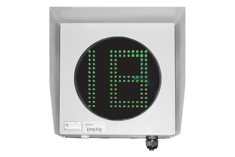 Countdown panel for level crossings signalling
